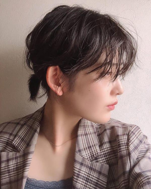 妊婦×ショートヘア×1つ結び
