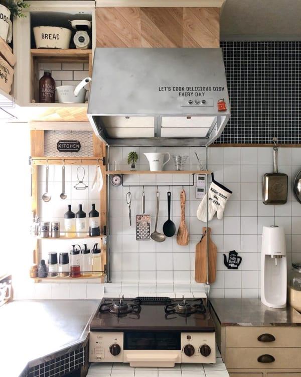 カフェ風に彩られたオシャレなキッチン