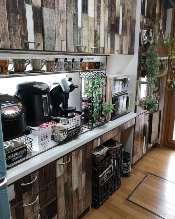 カフェ風に彩られたオシャレなキッチン4