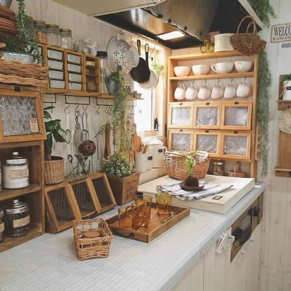 カフェ風に彩られたオシャレなキッチン5