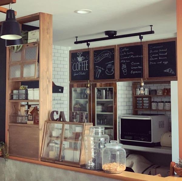 カフェ風に彩られたオシャレなキッチン7