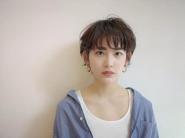 妊婦×ショートヘア×ハンサムショート