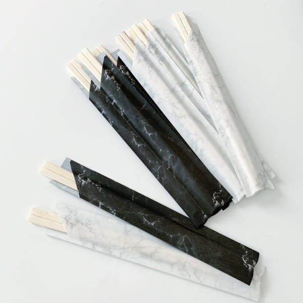 【セリア】大理石柄箸袋の割りばし