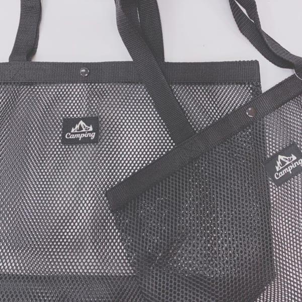シンプルなデザインが嬉しいメッシュバッグ
