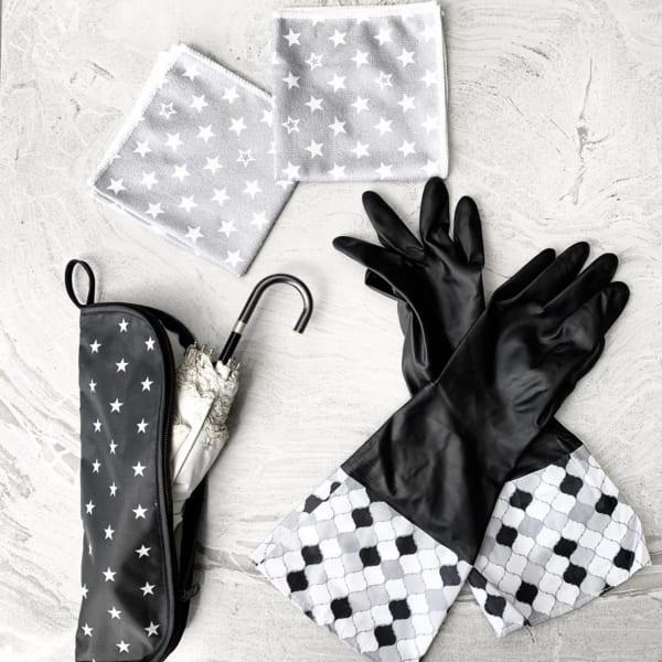 【ダイソー】モロッカン柄の袖付きゴム手袋