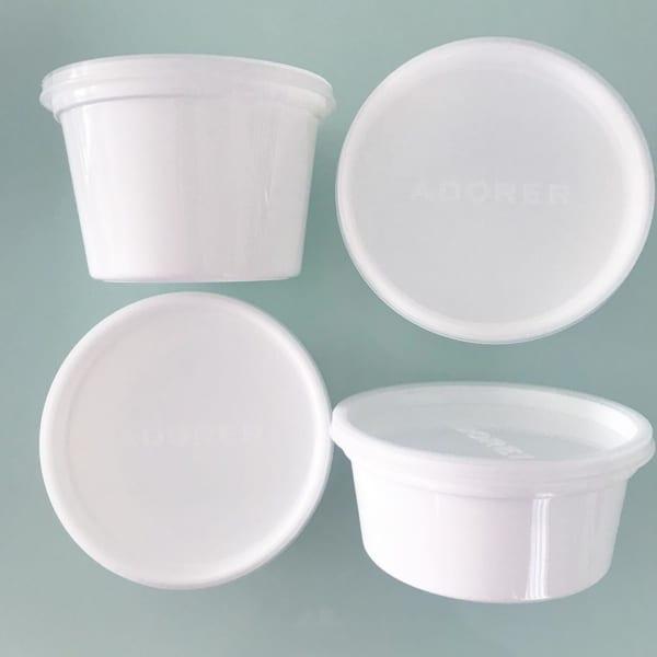 【キャンドゥ】真っ白な密閉容器