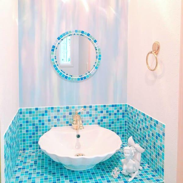 お洒落で実用的!こだわりの洗面所のインテリア実例☆11