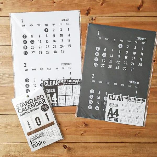クリア素材な100均セリアのカレンダー