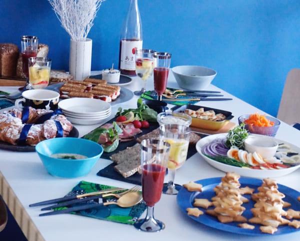 クリスマスの素敵なテーブルシーン