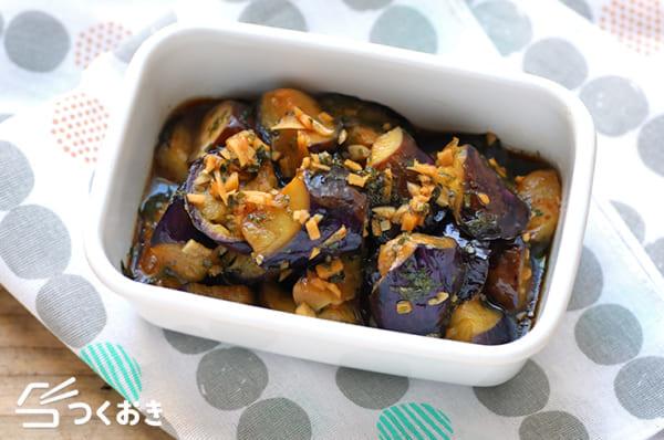 人気のレシピ!茄子の揚げ焼き香味ダレ