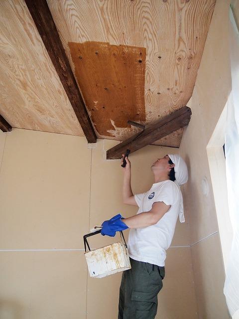 壁の仕上げは、構造用合板。DIYにはうってつけの素材3