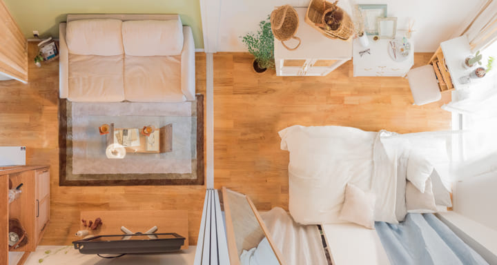 長方形 7畳部屋 レイアウト 家具の配置5