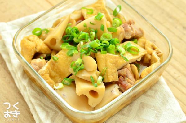 レンコンと油揚げの煮物のレシピ