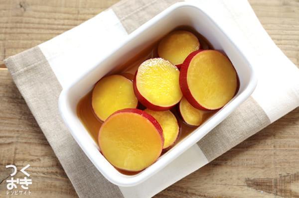 簡単な作り置きに!さつまいものオレンジジュース煮