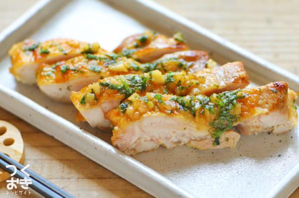 話題の作り置き料理に!鶏肉のわさび醤油ソース