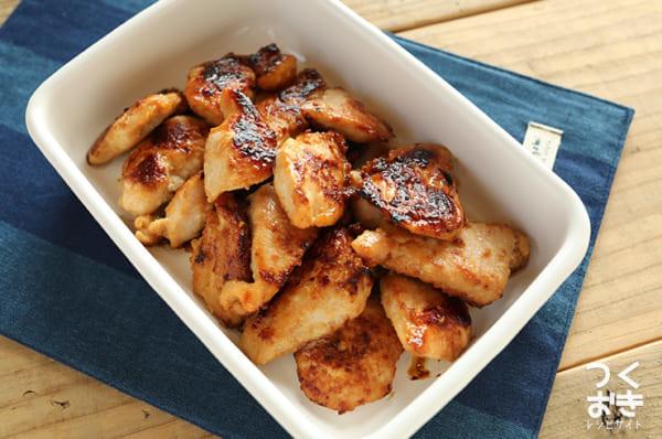 作り置きに!簡単鶏肉のはちみつ味噌漬け焼き