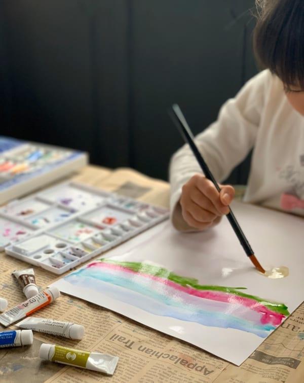 水彩絵の具で遊んでみよう!5