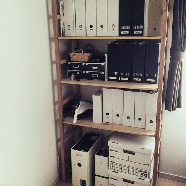 本棚や書類棚として真似したいアイデア