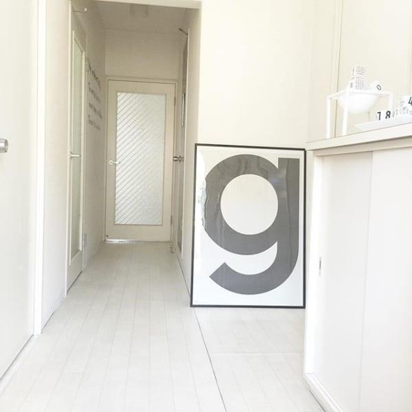 スペースが狭いアパートの玄関
