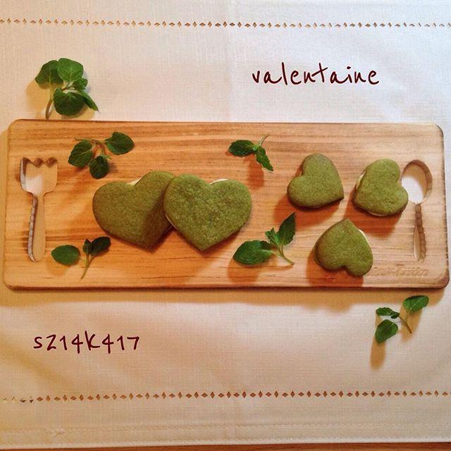 人気のバレンタインレシピ!ハートの抹茶クッキー