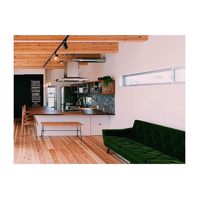 格好良いカフェ風キッチン