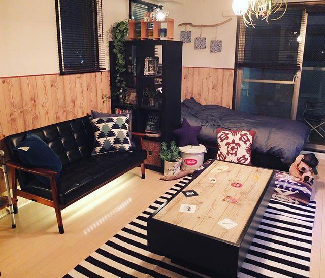 家具配置が上手な一人暮らしの部屋