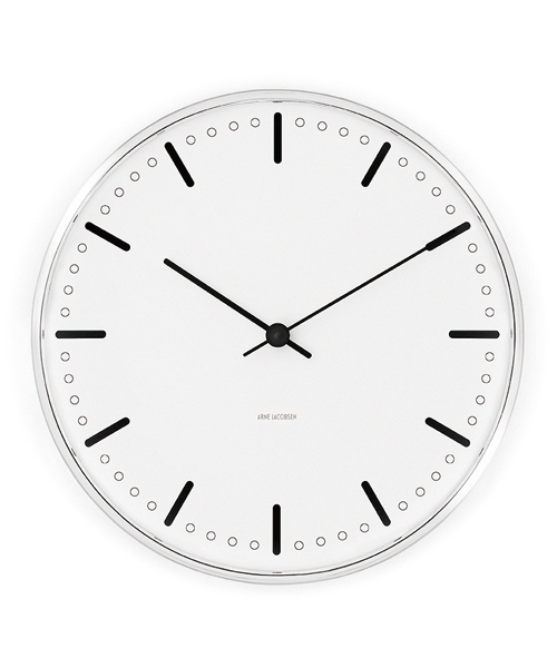 [NORDIC Feeling] Arne Jacobsen / アルネ・ヤコブセン   Clock 43631(City Hall 210mm)