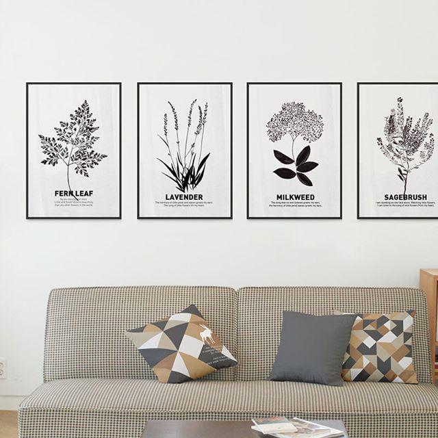 並べて貼りたい♪植物のポスター