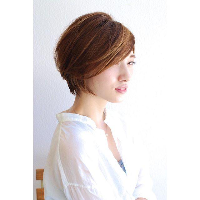 40代ぽっちゃりママのショートの髪型《前髪なし》2