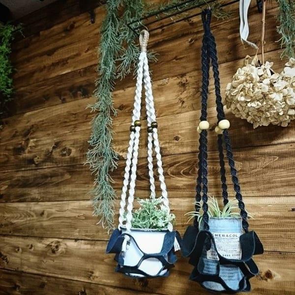 フェイク植物を吊るす素敵なインテリア
