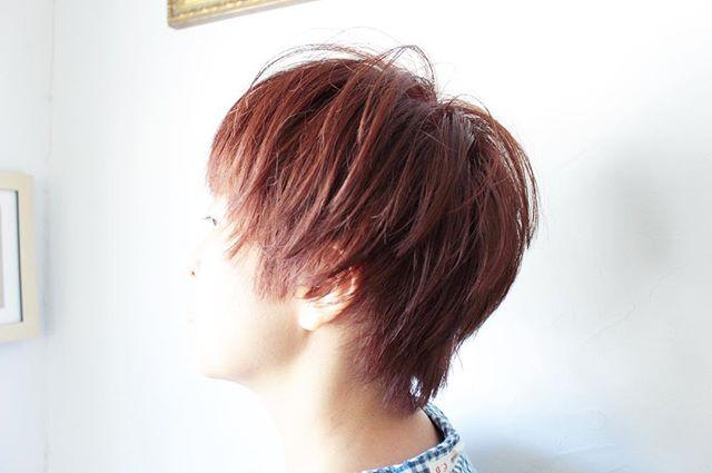30代女性 髪色 ピンク
