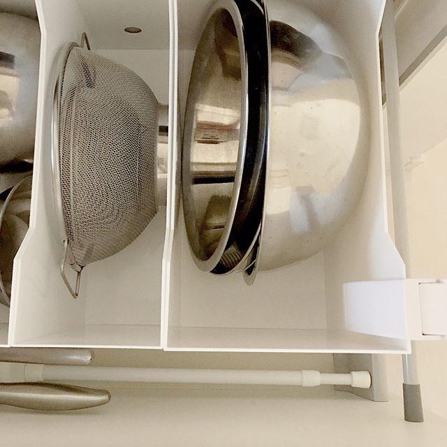 キッチンカウンター×調理器具収納