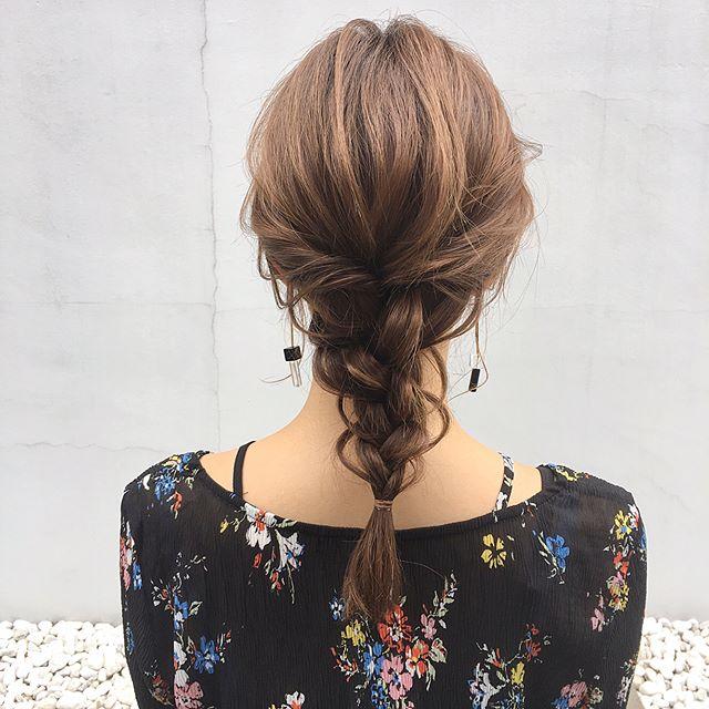 オフィスカジュアル ロング 髪型