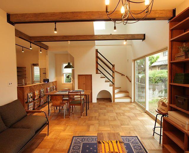 家具配置が絶妙なカフェ風LDK