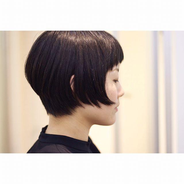 大人女性のショートボブヘア《前髪あり》3