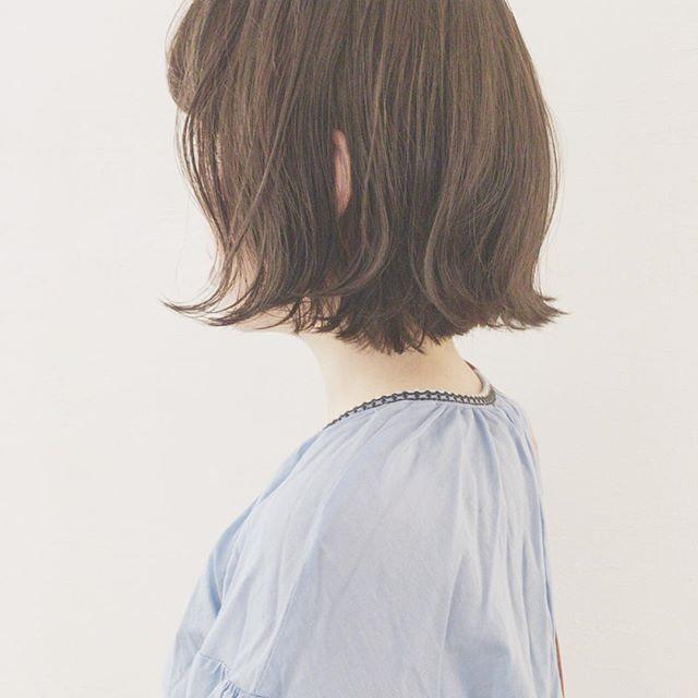カラーも楽しもう30代は前髪ありのヘアスタイル