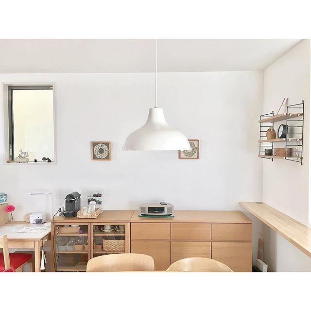 ダイニングキッチンに無印収納家具を配置