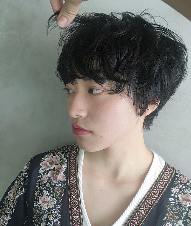 40代ぽっちゃりママのショートの髪型《黒髪・暗髪》2