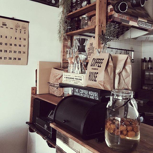 キッチンカウンター×食品収納