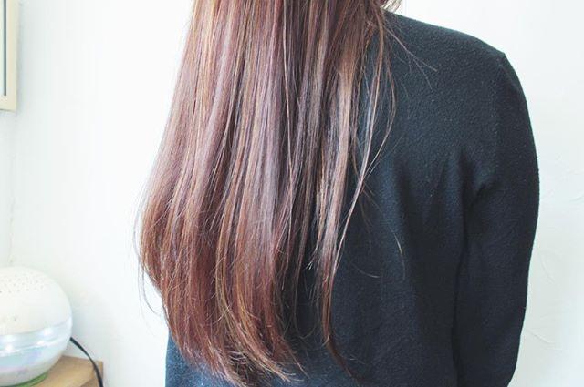 30代女性 髪色 ピンク4