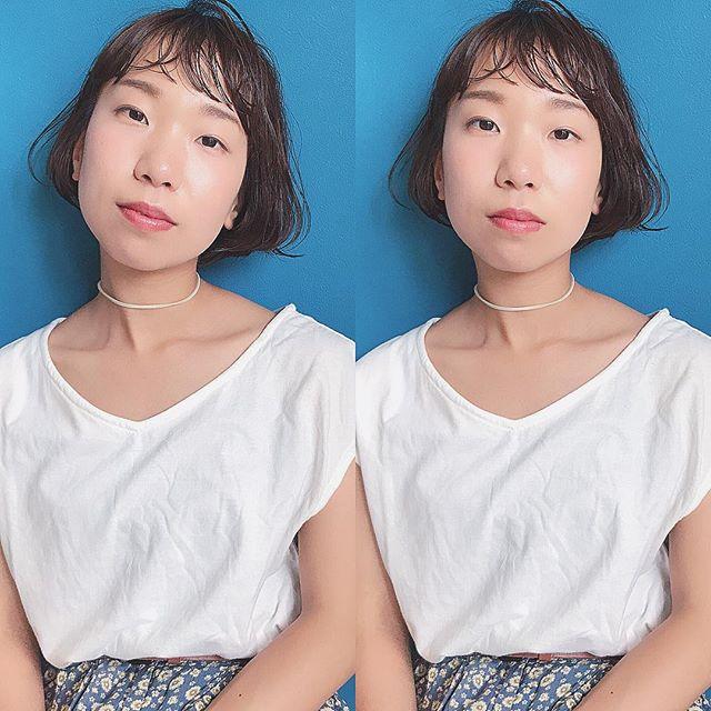 大人女性のショートボブヘア《前髪あり》2