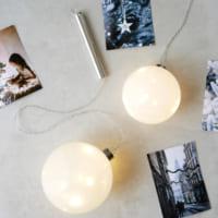 幻想的な光の演出を!電池式で飾りやすい「GLASSスムースボール」