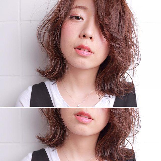オフィスカジュアル ミディアム 髪型4