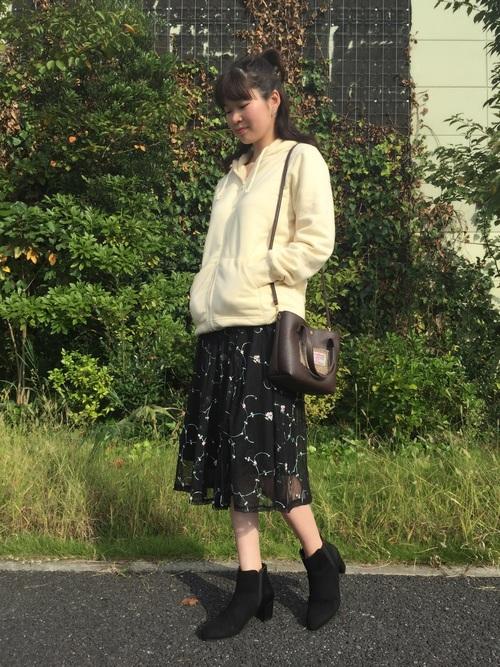 しまむらの花柄スカートコーデ10