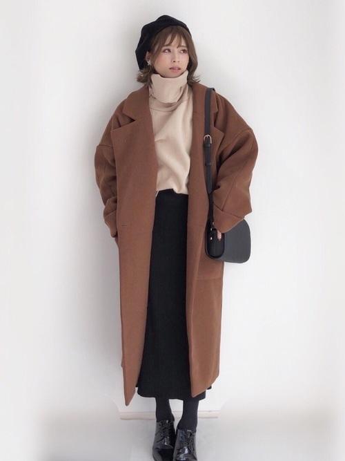 最高気温4度 服装 スカートコーデ2