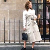 トレンチスカートの冬コーデ集♡一枚できちんと感がUPする万能アイテムの着こなし
