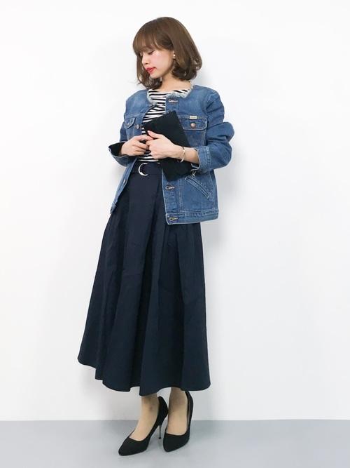 ネイビースカート8
