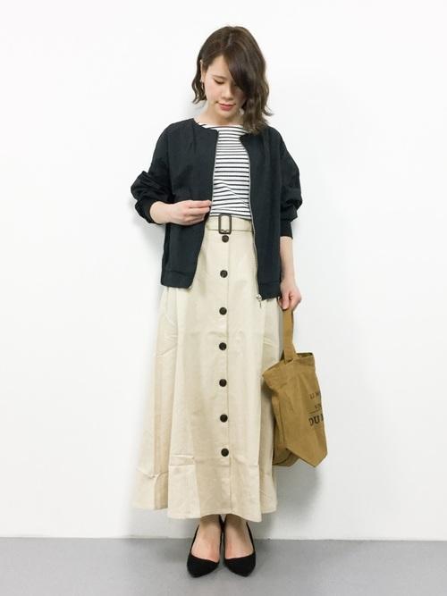 [Re:EDIT] 綿麻ロングトレンチスカート