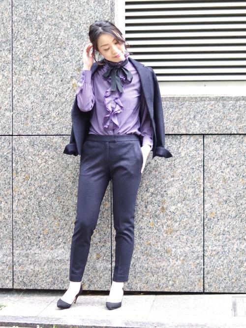[NARACAMICIE] 【セットアップスーツ対応】バーズアイテーラードジャケット