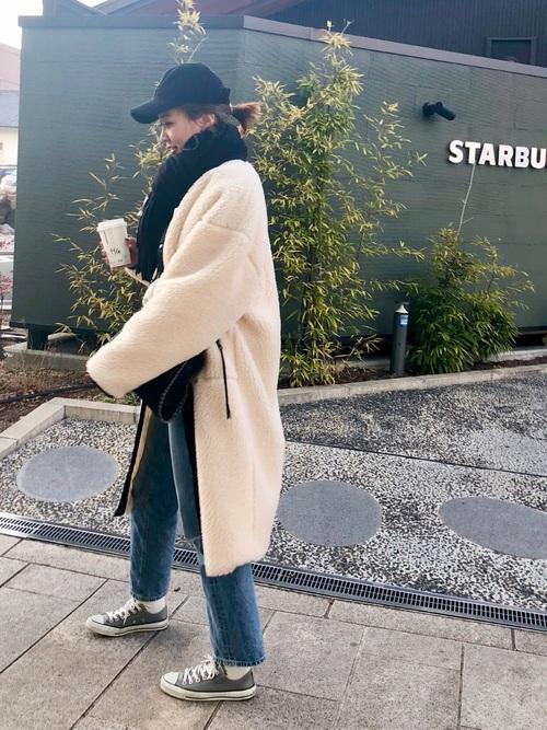 軽井沢 2月 服装 パンツコーデ2